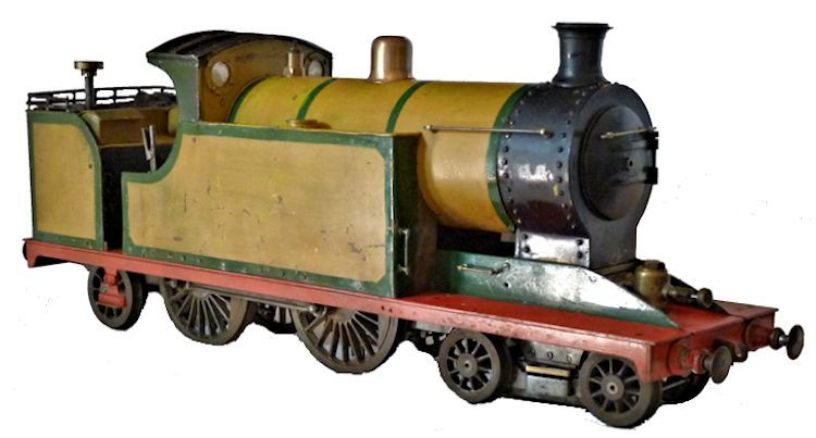 Front view of steam locomotive mage