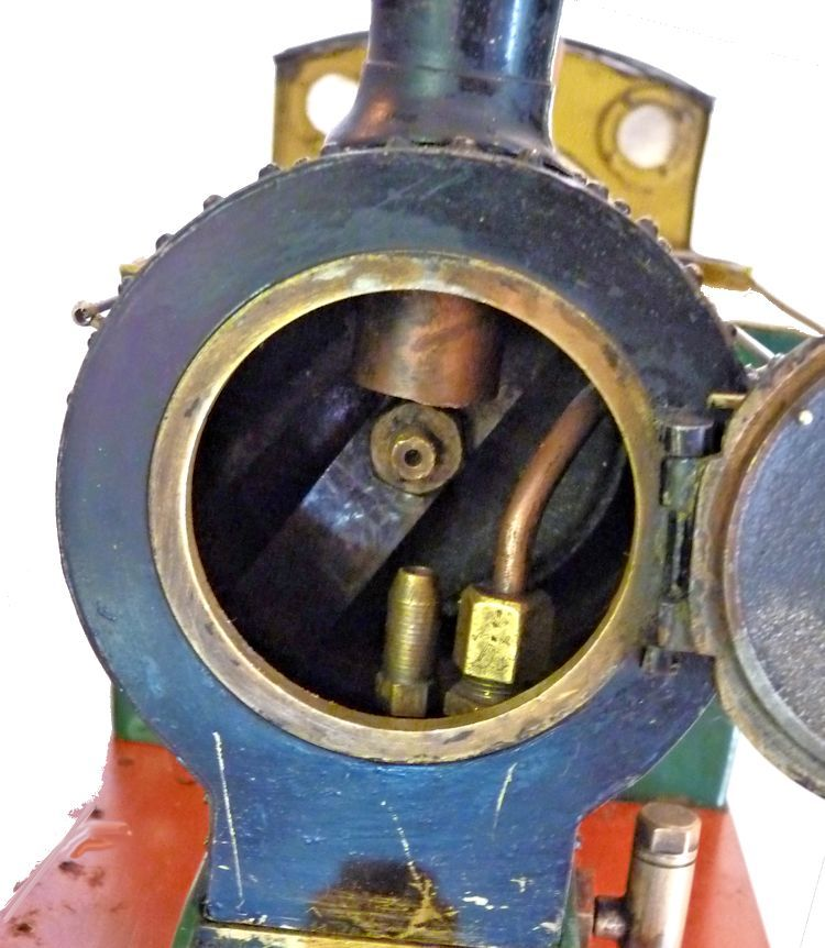 Front view of steam boiler mage