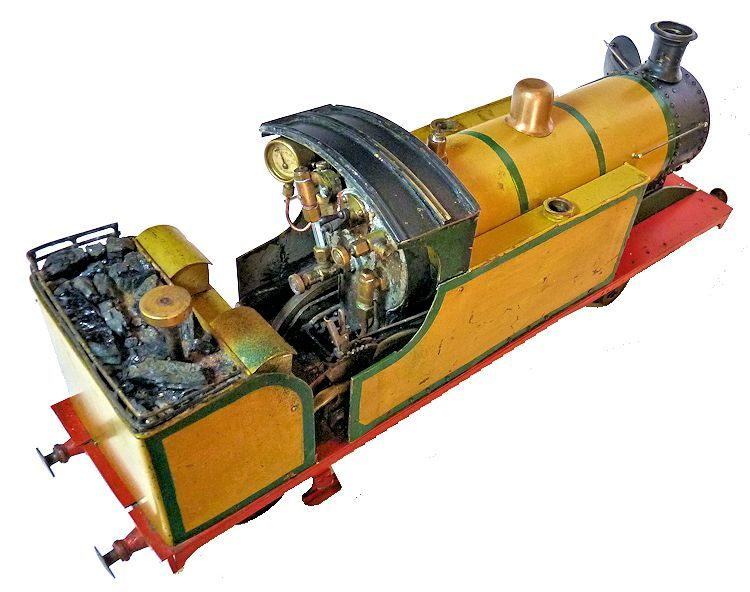 Top view of the steam engine image