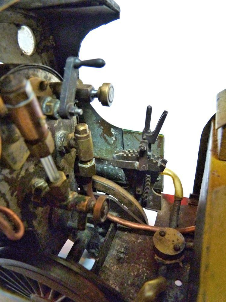Side view in cab showing rachet brake image