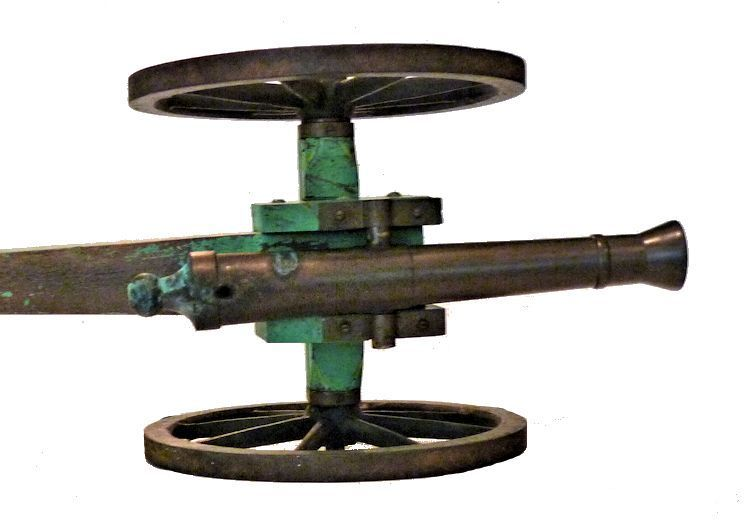Top view of barrel showing touch hole image