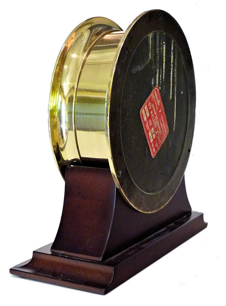Partial back view of the same clock showing Geo. Butler label image