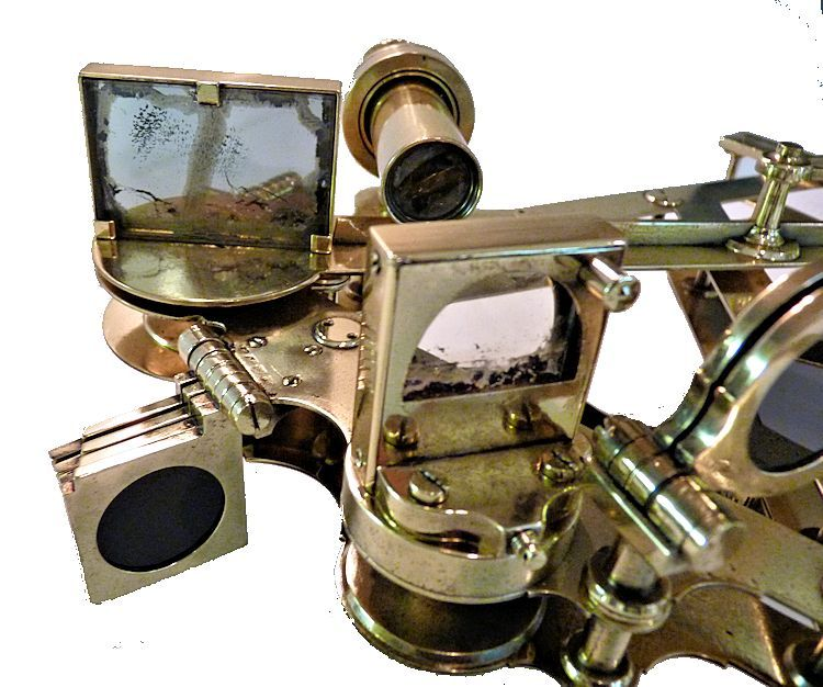 Close-up of index mirror image