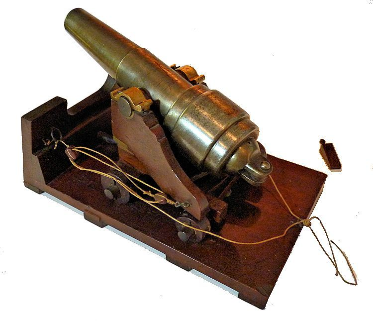 Top view of the Parrot cannon traversed to the right image