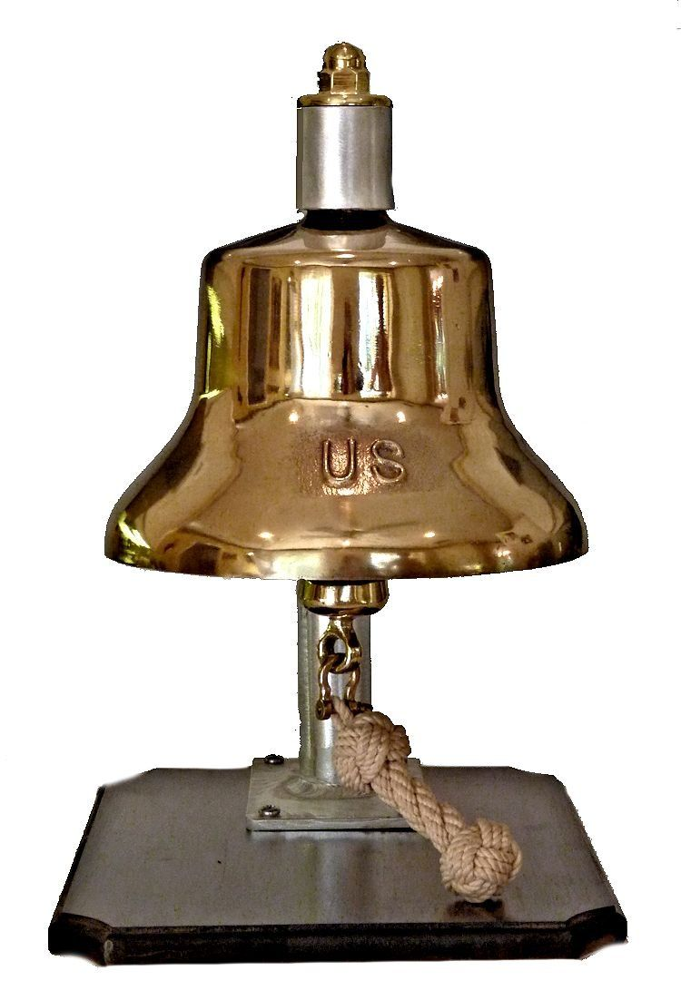 US Navy bell Vietnam Era and later on new aluminium inverted J bracket image