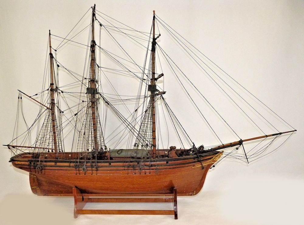 Portside view of the Clipper Ship Adino model image