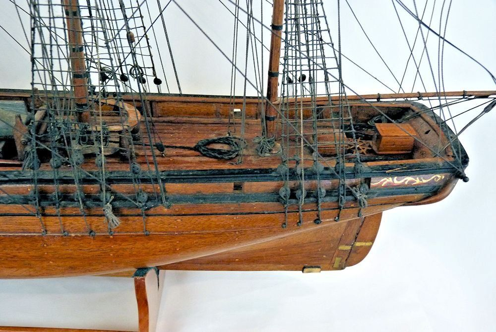 The aft section of the vessel showing the detail of the chain plates image