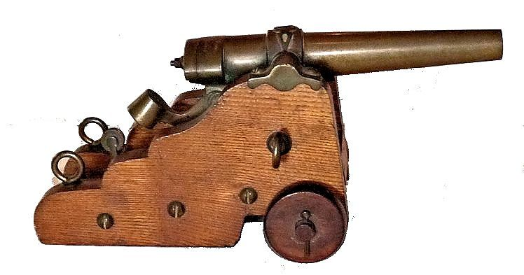 Right side of presentation breech loading signal cannon image