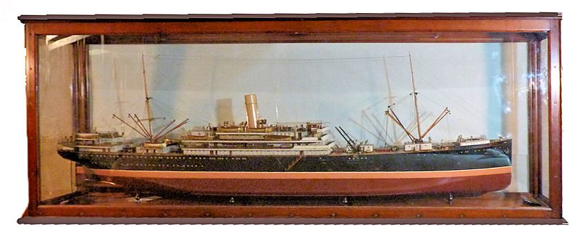 Starboard galley view of the 1909 Steamship RUAHINI model image