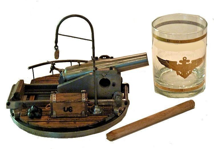 Group of items showing size of Rodman cannon display image