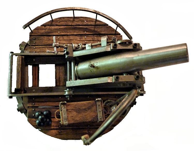 Top                            view of Rodman gun display image