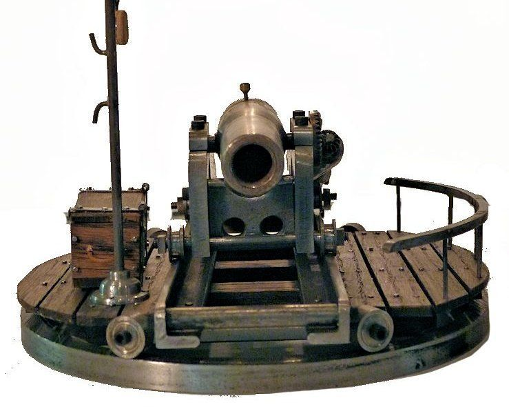 Front view showing bore of Rodman gun model image