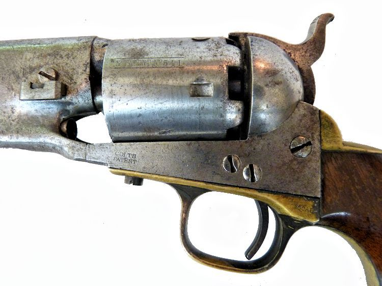 Almost all the markings are on the revers side of the Colt M 1861 Navy image