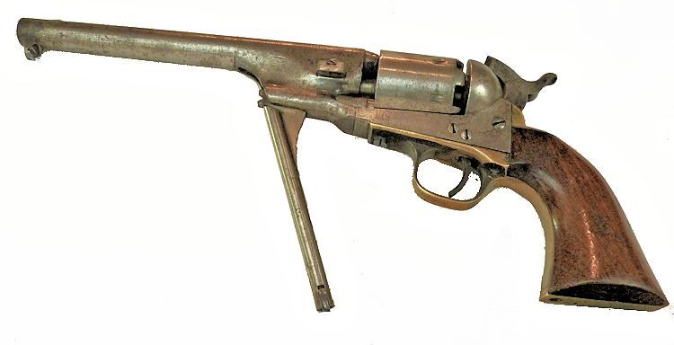 The Navy Colt M                                     1861's loading lever in the down posiion image