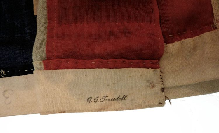 Trusdall's stamp on the canvas header                                     image