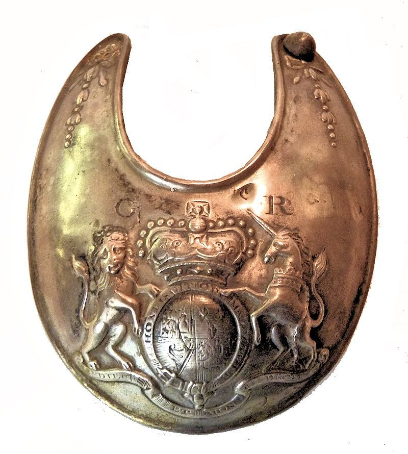Front of British officer;s gorget Ca 1777 image
