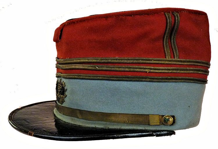 Leftside of French officer's kepi image