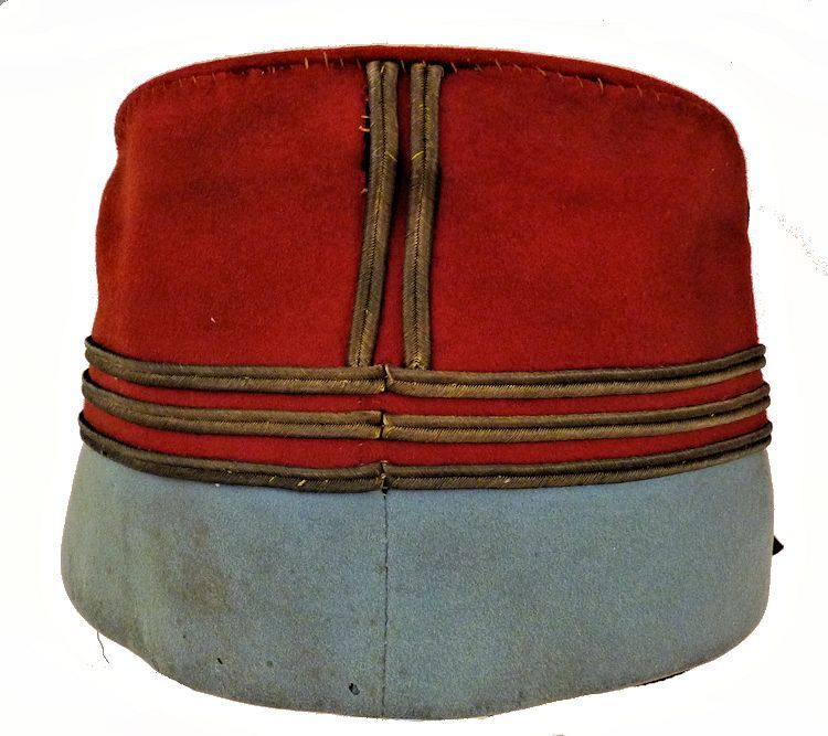 Back of French officer's kepi image