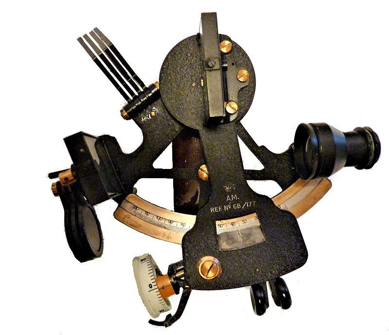 British Air Ministry WW II Seaplane sextant image