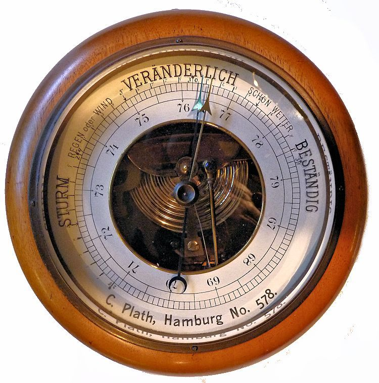 Vintage C. Plath android barometer mage