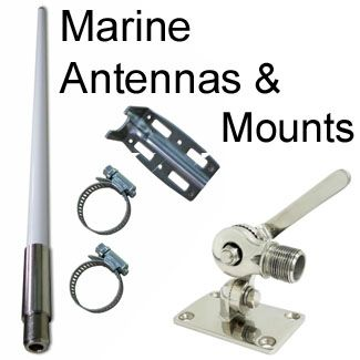 Marine WiFi antennas, mounts for boats, yachts, marinas