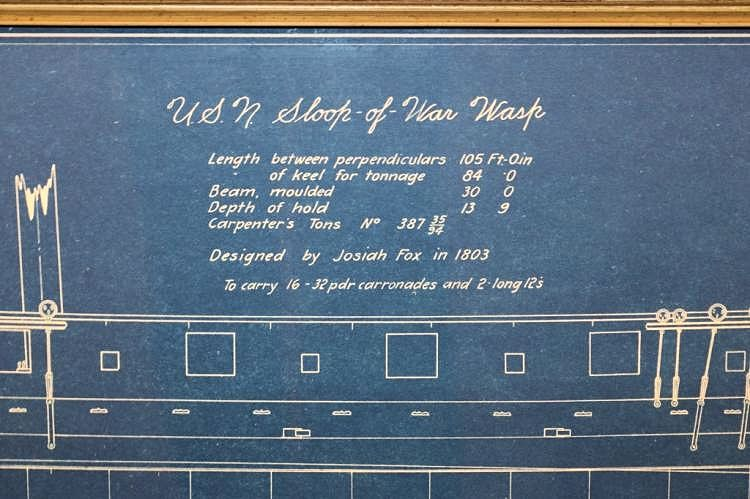 Details of the Sloop of War USS Wasp image