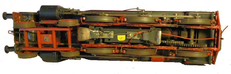 Undercarriage of German electric steam engine image