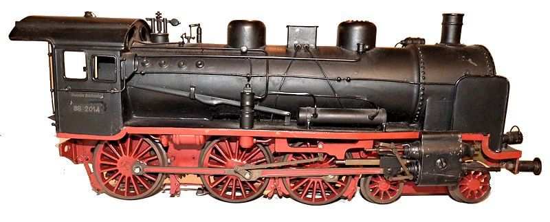 Right side of German vintage electric train set locomotive engine model image