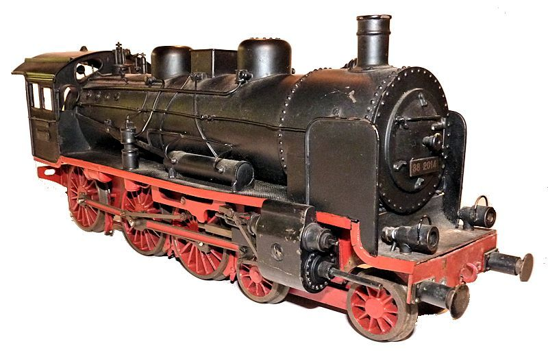 Right side view of front of the German train set electric locomoive engine image