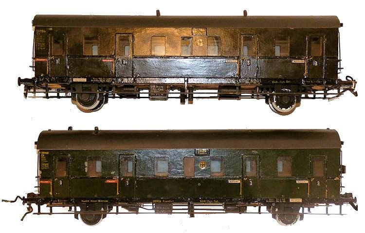 2nd class cars of the German train set image