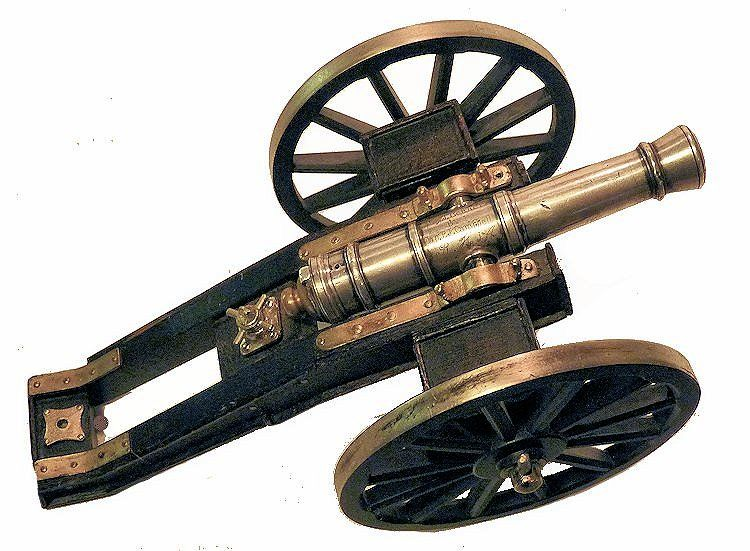 Top view of silver presenation cannon image