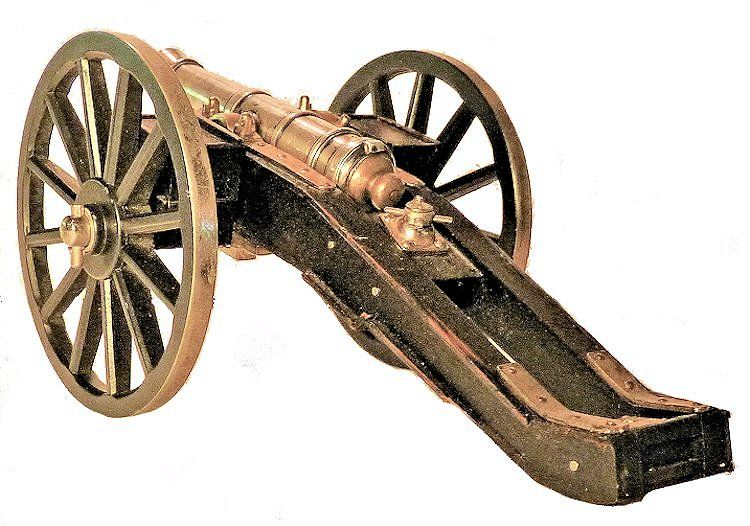 Picture of the rear of the cannon from the left image
