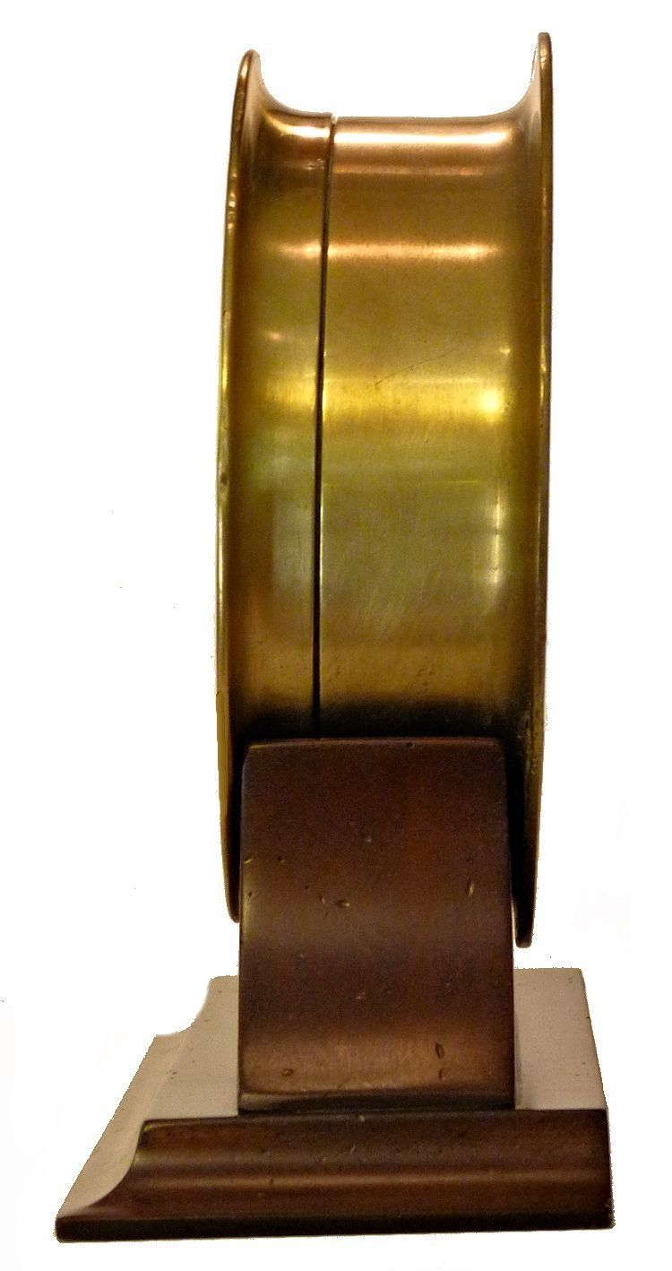 Side view of early Seth Thomas Navy Deck Clock No. 1 image