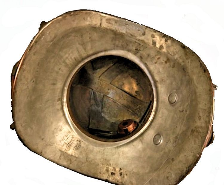 Inside of the breast plate showing the vents image