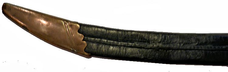 The tip of the horse head scabbard image