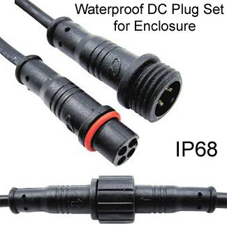 Weatherproof DC plug for Enclosure