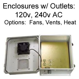 Enclosures with 120v AC