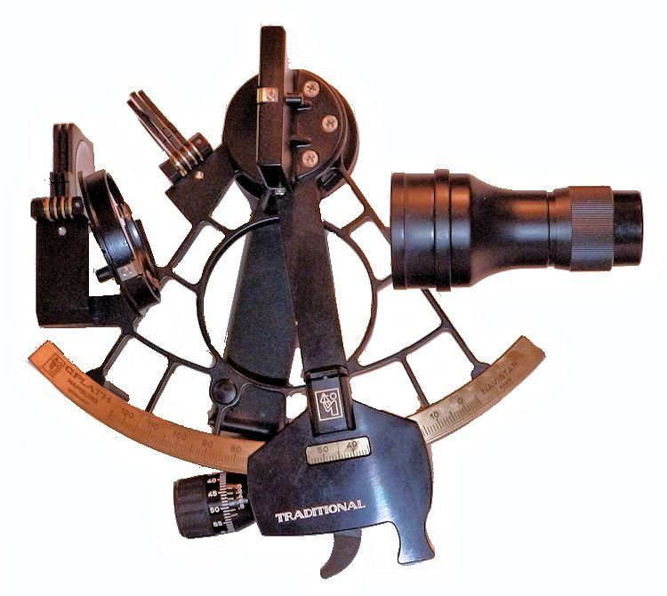 Plath Traditional sextant with wide angle 4 x 40 scope image