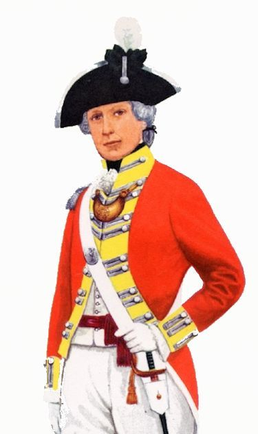 British officer wearing other bicorn image