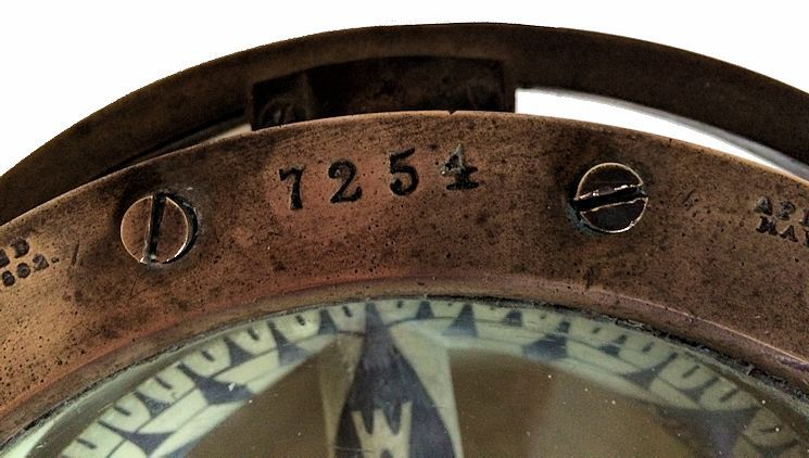 Ritchie compasses serial number 7254 image