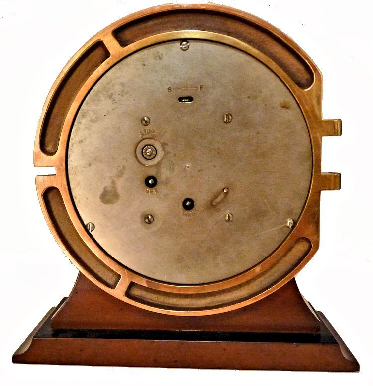 Back of 1944 Seth Thomas MK I Deck Clock showing controls image