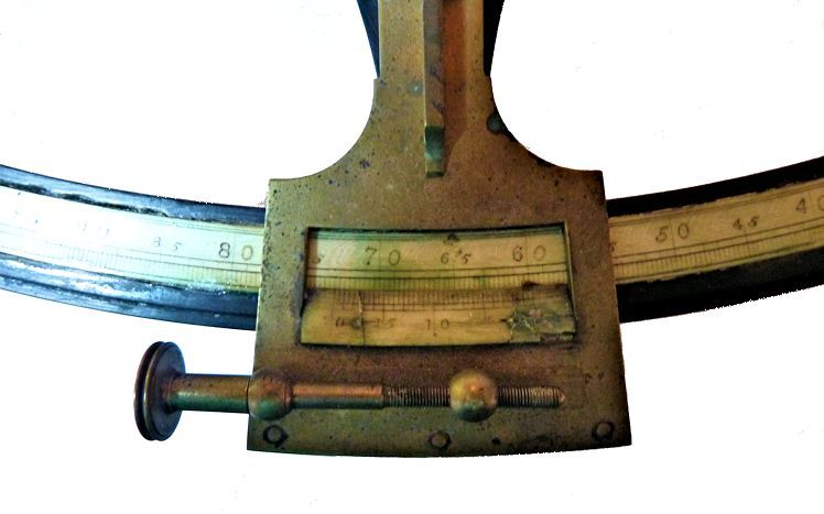 The vernier of the large Bradford sextant image