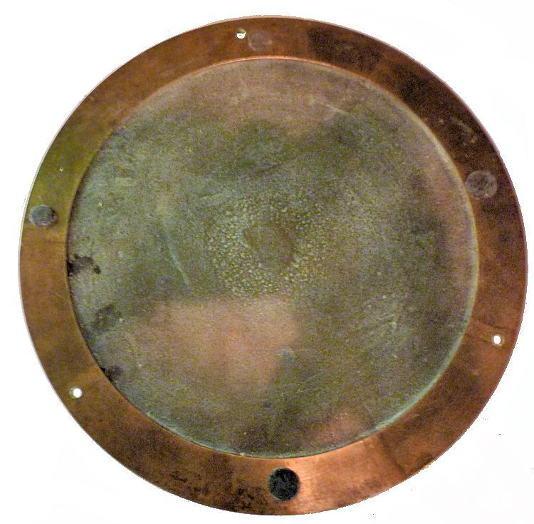 The back of the 8 inch Seth Thomas clock image