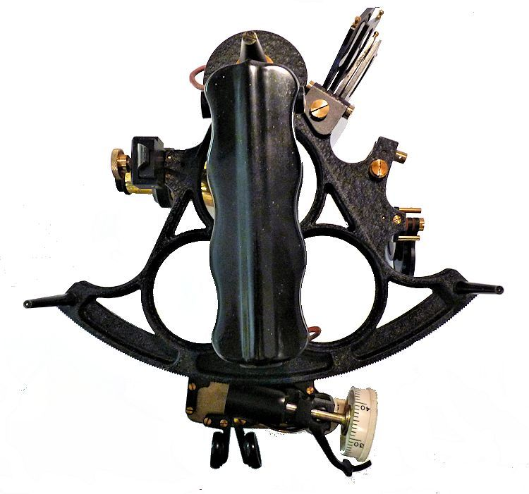 Rear view of he Weems 3 ring Hughes sextant image