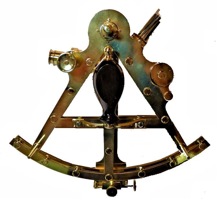 Back of Troughton & Simms Double Robert T Way Sextant image