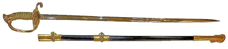 M 1852 sword presented to battleship officer dated 1909 image