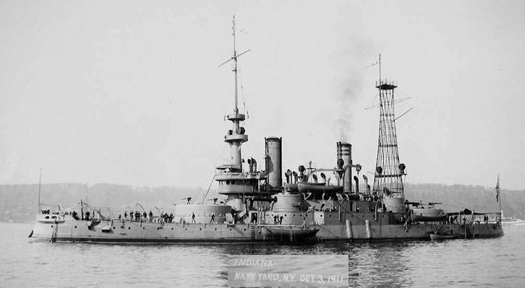 Picture of USS Indiana Ca 1910 image