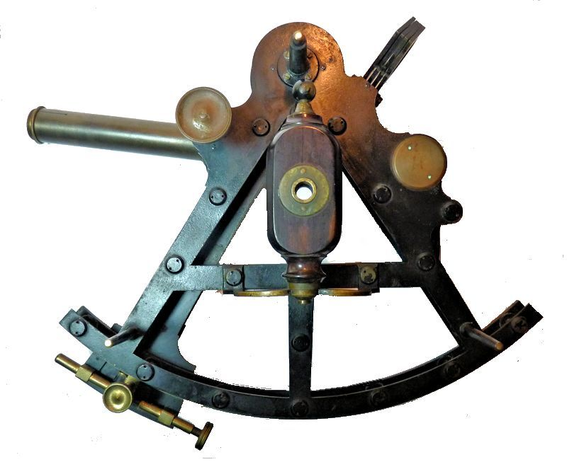 Back of Troughton & Simms Double Frame sextant marked Henry Hughes & Son image
