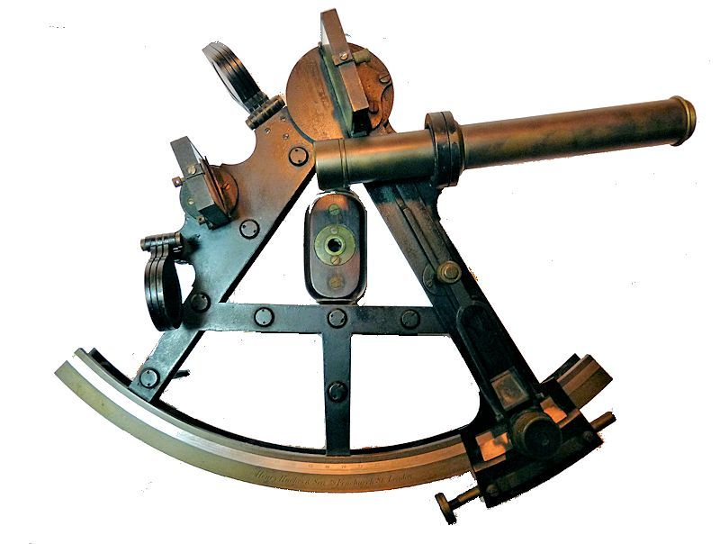 Troughton & Simmms double frame pilar                                     sextant marked Henry Hughes & Son image