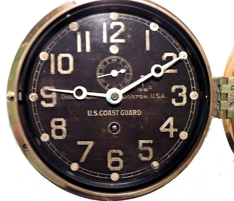 Face of the USCG ship's clock image